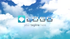 Clouds Logo Reveal - Elegant Sky Zoom Out Light Animation Logo Sting Intro - stock after effects