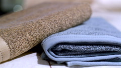 Manufactures industrial textile - towels. Stock Footage