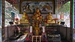 Shrine in Wat Chiang Man Stock Footage