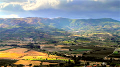 Countryside landscape in time-lapse. Stock Footage