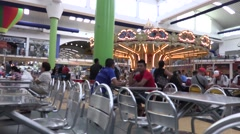 Time lapse the carousel spinning in the Albrook Mall, Panama Stock Footage