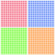 Set of Colorful Checkered Patterns Stock Illustration