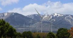 Windmill energy rural mountain landscape DCI 4K Stock Footage