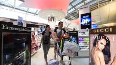 Beuaty and fashion store at Suvarnabhumi Stock Footage