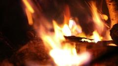 Bonfire close up. No color correction - stock footage