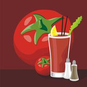 Bloody Mary cocktail Stock Illustration