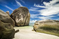 Anse Source D'Argent beach - stock photo