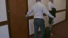 Checking Out in Hotel Stock Footage