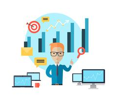 Business Training Concept Stock Illustration