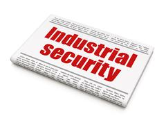 Privacy concept: newspaper headline Industrial Security Stock Illustration