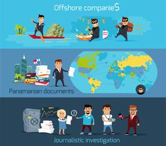Panama Papers Offshore Company - stock illustration