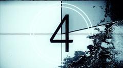 Film Leader Countdown Frame Four Stock Illustration