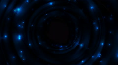 Blue glowing space with sparkling stars video animation Stock Footage