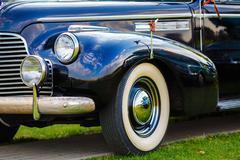Black retro car Stock Photos
