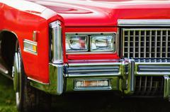 Red retro car Kuvituskuvat