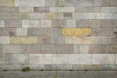 natural stone wall background - stock photo