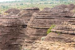 the Domes de Fabedougou  are natural phenomenon of rock sculpted in Burkina faso - stock photo