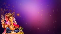 Wedding Motion Loopable Background, God Ganesh Stock Footage