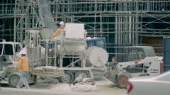 Construction Site Cement Machine - Super Slow Motion 240FPS - Los Angeles, CA Stock Footage