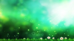 Wedding Motion Loopable Background, Green BG with flowers Stock Footage