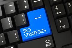 Seo Strategies CloseUp of Keyboard Stock Illustration
