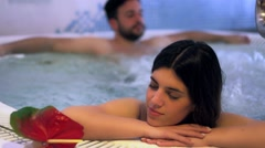 Couple in Jacuzzi Stock Footage