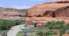 Hole in the rock tourist attraction Moab Utah DCI 4K Stock Footage