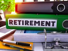 Green Office Folder with Inscription Retirement - stock illustration