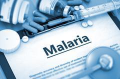 Malaria Diagnosis. Medical Concept. Composition of Medicaments - stock illustration