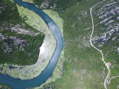 Canyon of river Crnojevica, Montenegro - stock photo
