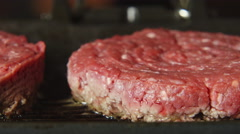 A beefsteak on a grill - stock footage