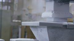 Production process of polymer and thermoplastic elastomer compounds. Stock Footage