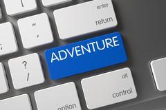 Adventure - Blue Keypad Button - stock illustration