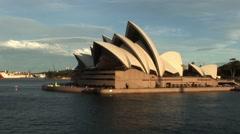 Sydney Opera House at Sunset - stock footage