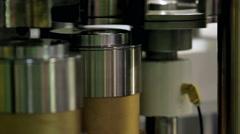 Bottles filler machine Stock Footage