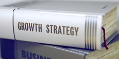 Growth Strategy  - Book Title Stock Illustration