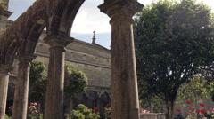 Cloister of the monastery Rendufe. - stock footage