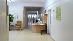 4k,corridor in hospital 2 Stock Footage