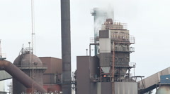 View of a steelworks Industry.  Stock Footage