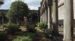 Cloister of the monastery Rendufe. Stock Footage