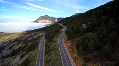 Aerial footage: Mythical mountain road and curve. Stock Footage
