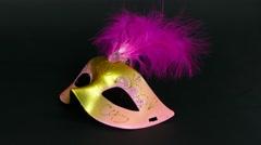 Carnaval mask on black footage 4k Stock Footage