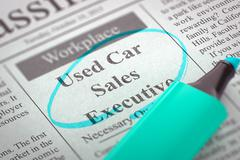 We are Hiring Used Car Sales Executive - stock illustration