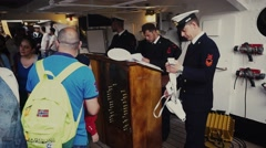 Sailors in the command information center in the ship Stock Footage