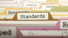 Folder in Catalog Marked as Standards - stock illustration