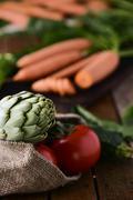 Assortment of raw vegetables Stock Photos