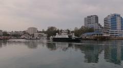 Bay of city of Sevastopol Stock Footage