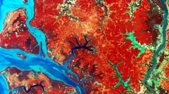 Abstract motion background. Original satellite images of Earth from space. Loop. - stock footage