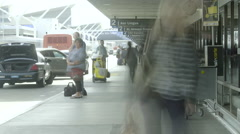 Airport Terminal Time-lapse Stock Footage
