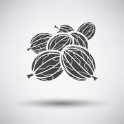 Gooseberry icon on gray background Stock Illustration